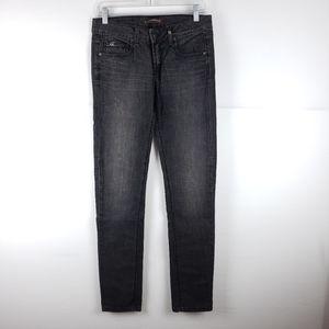 NWT Yanuk Black Skinny Straight Jeans Size 28